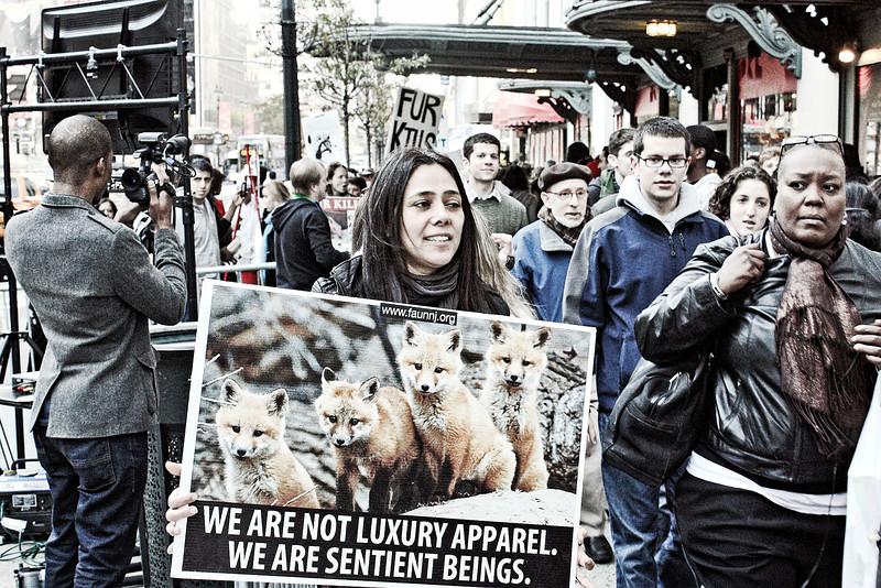 Against fur.