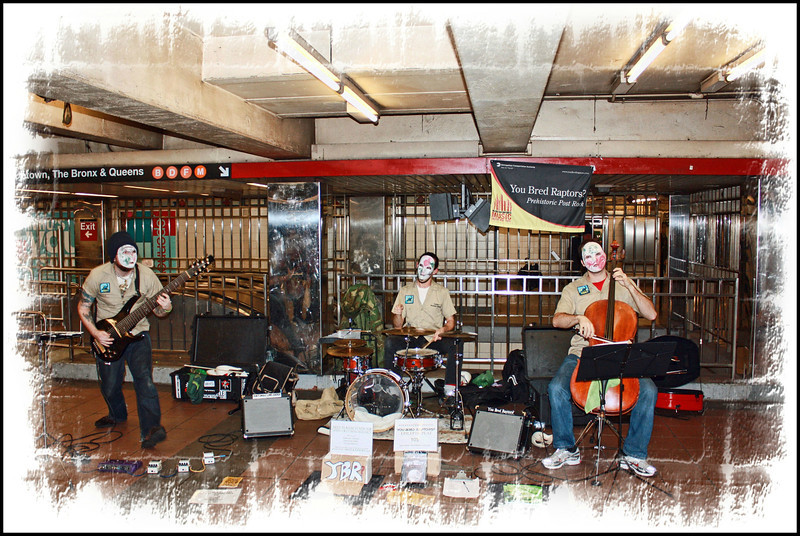 NYC street musicians.