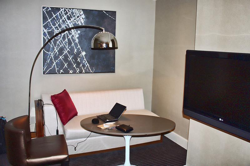 Grand Hyatt Hotel work space.