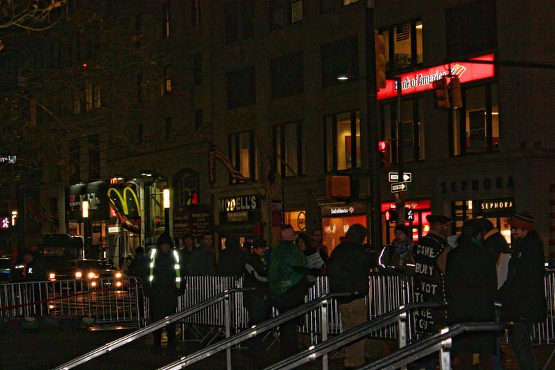Occupy Wall Street stragglers.