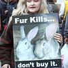 Fur protester.