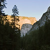 Sunrise in the park. That's the shadow of half dome gliding down another rock face.