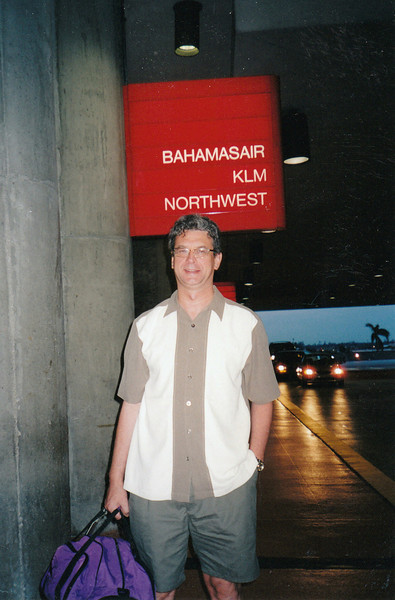 Outside Bahamas Air terminal.