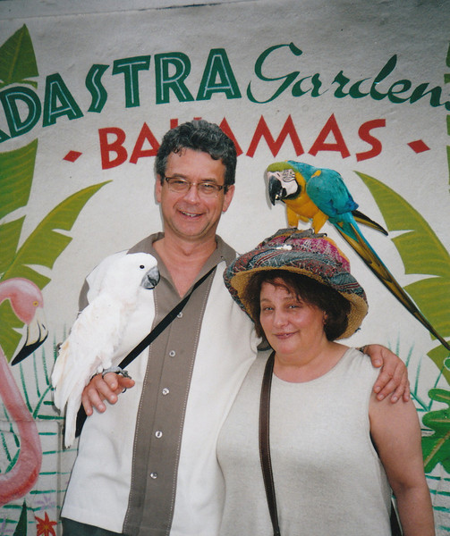Adastra Gardens. Why do they always have to put a bird on your head at these places?