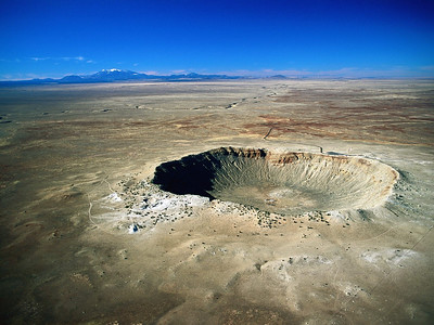 Meteor Crater, view from above.  Since we didn't get to see it, I found this photo on Google images.