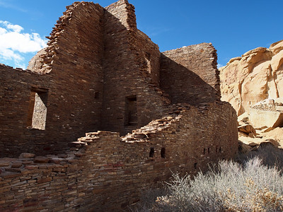 Eastern wall of Pueblo Bonito