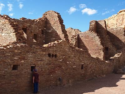 Looking into Pueblo Bonito at Chaco Canyon