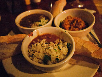 Red beans and rice, gumbo and jumbalaya at The Original Pierre Masperos restaurant