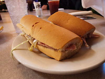 Ham po boy at Mother's