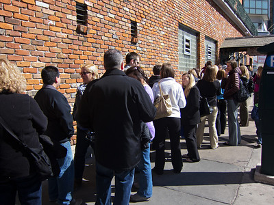 Line for Mother's Restaurant