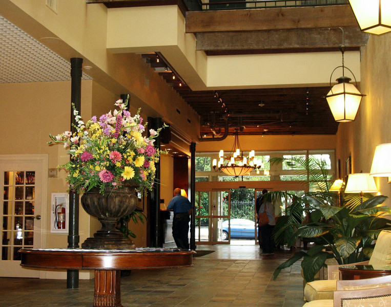 Hotel lobby - just outside of the French Quarter, but within walking distance.