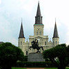 Jackson Square. St. Louis Cathedral and monument to Andrew Jackson.