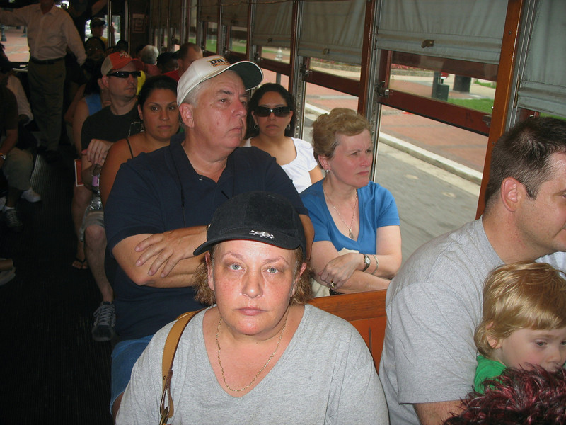 On the streetcar - I don't do great in humidity.