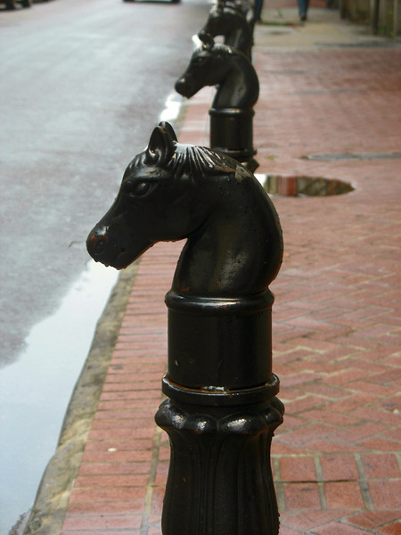 French Quarter hitching posts.