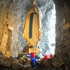 Grotto to Our Lady of Lourdes with 'thank yous'.