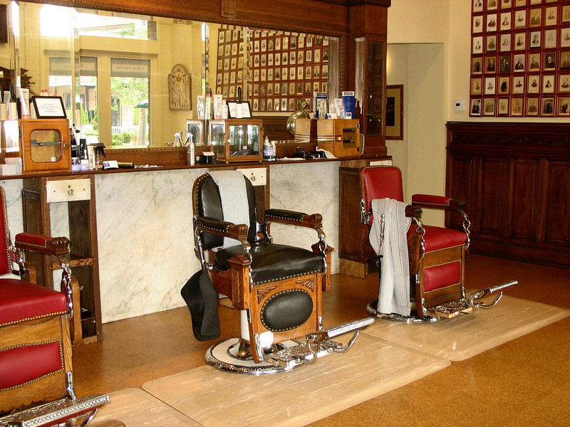 Old fashioned barber shop. A 40 minute shave with a straight-edge razor and hot towels will set you back $40, but it includes a Guinness or cognac :-)