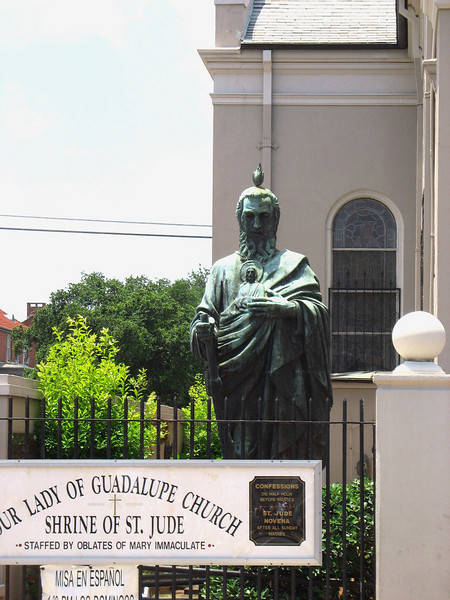 The church is home to the largest statue of St. Jude, patron saint of lost causes and desperate situations, in the world.