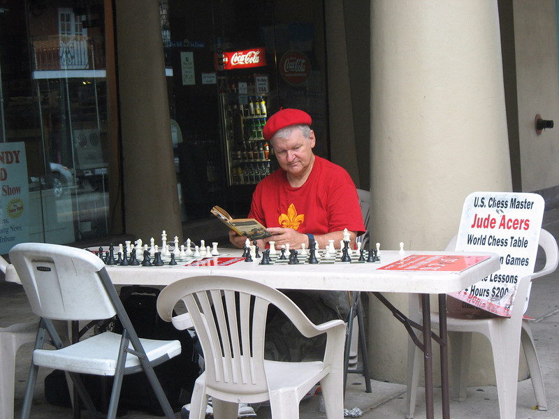 Chess Master hoping for a student.