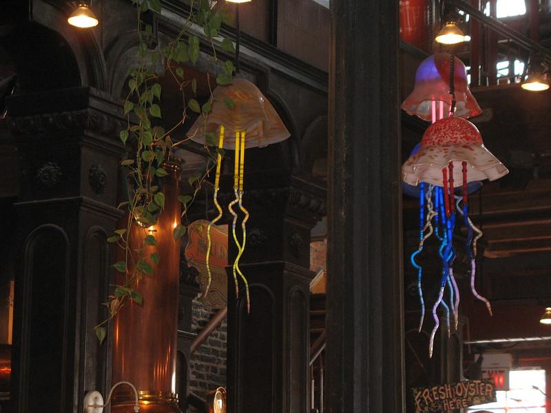 Restaurant lighting.