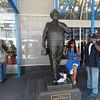 Statue honoring Ralph Kramden at the Port Authority Bus Depot!