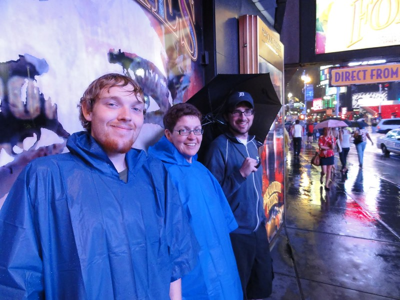 Pouring rain on Friday prompted us to by $9 ponchos.