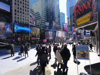 When you step outside our hotel, you are smack dab in the middle of Times Square.