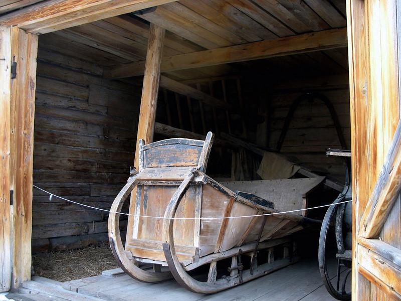 Gorky's grandfather's sleigh.