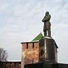 Monument to Valery Chkalov, Russia's Lindbergh.
