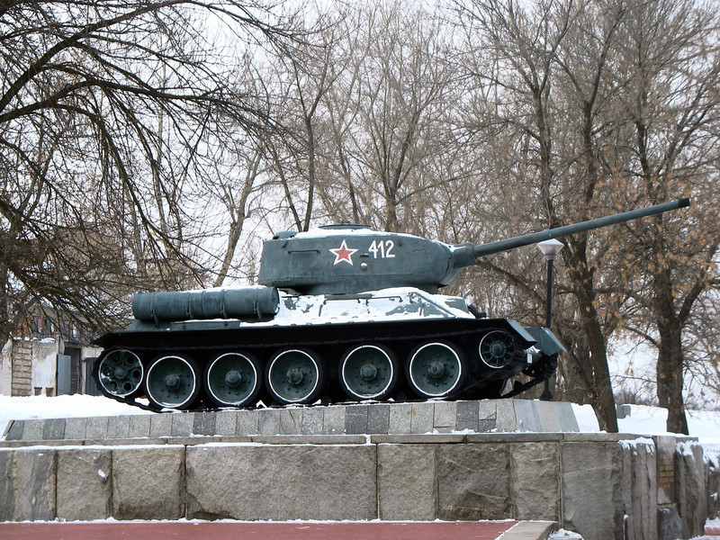 Soviet tank used in WWII and built locally.