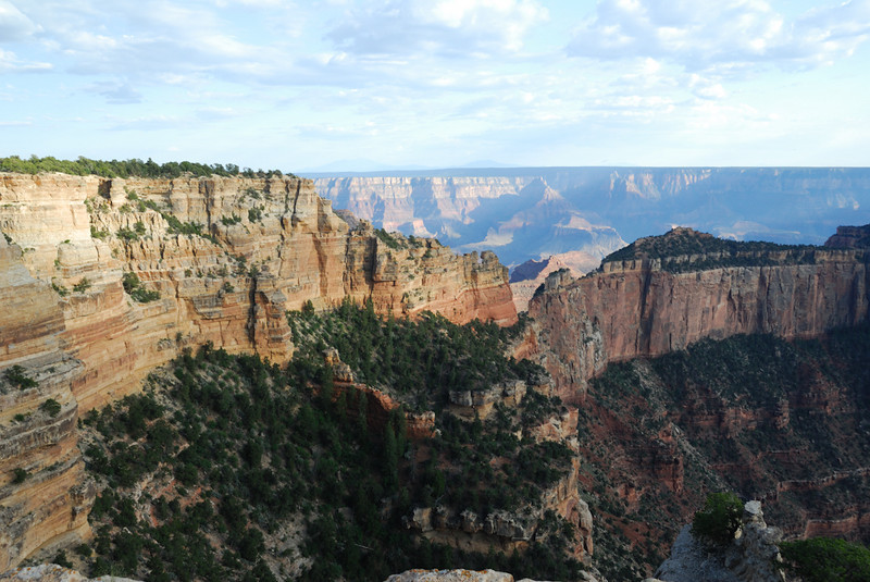 Thin ridge and the South Rim