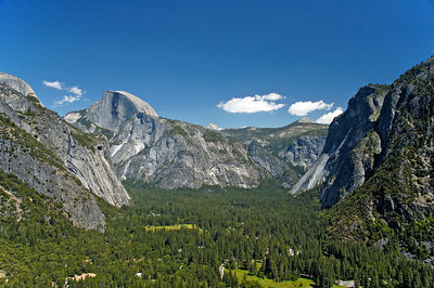 Yosemite Valley taken from Upper Yosemite Fall Trail