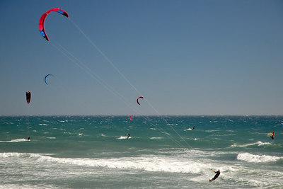 Kite Surfing on Waddell Creek Beach California