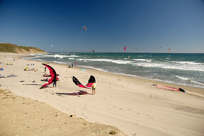 Kite Surfing on Waddell Creek Beach California