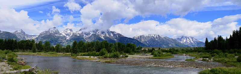 Panorama from Schwabacher's Landing