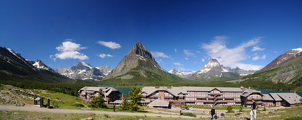 Swiftcurrent Lodge Panorama