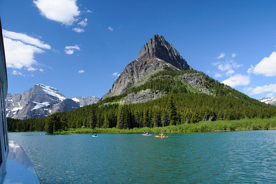 Kayakers on Swiftcurrent Lake