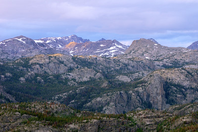 Wind River Range at dusk