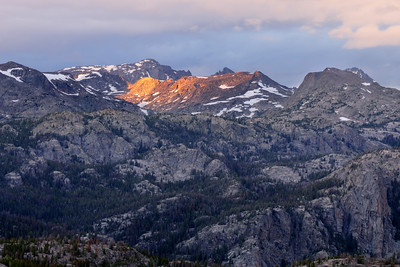 Peaks at sunset