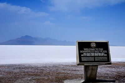 Bonneville Salt Flat marker