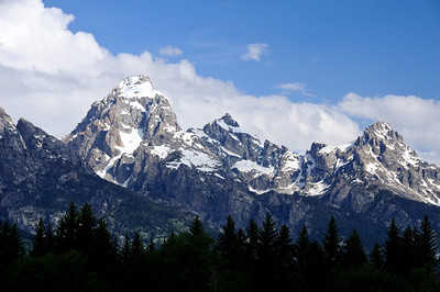 Tetons from the visitor center