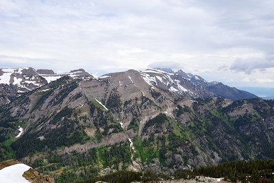 Granite basin beyond the crest