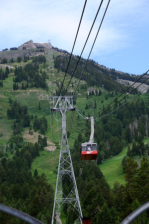 Tram to the top of the Tetons