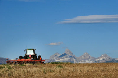 Tractor and Tetons