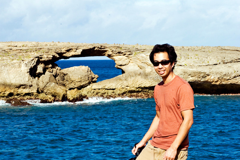 Ryan at Laie Point.