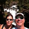 Natural Bridge Falls selfie