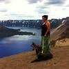 Zarah & the kids at Crater Lake
