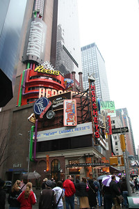 The Hershey's store in Times Square with lots of chocolate!