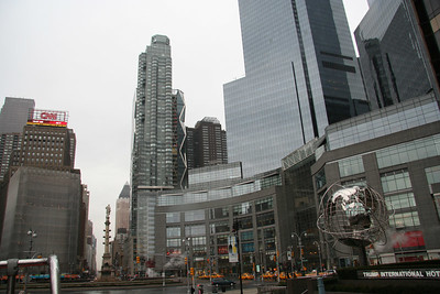 Columbus Circle, CNN/Time Warner Building & Trump International Hotel