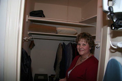 The room had a HUGE closet!