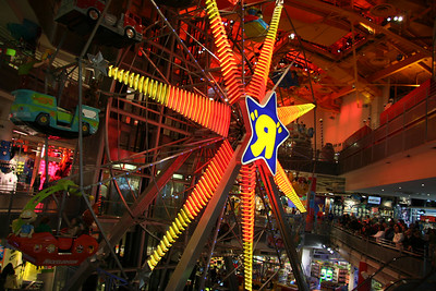 The ferris wheel INSIDE Toys R Us in Times Square
